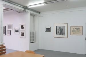 John Devlin, Sans titre n°135, 1988 – Peter Kapeller, Liebe, 2013 – Adama Kouyaté, Bouaké #95, 1966 – Henry Speller, Sans titre, 1987