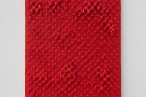 Suite ivoirienne (Attecoube), 2013, acrylique sur clou sur bois – 30 x 23 cm