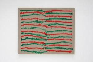 En regardant à droite (peint main droite), en regardant à gauche (peint main gauche), acrylique sur toile – 195 x 160cm