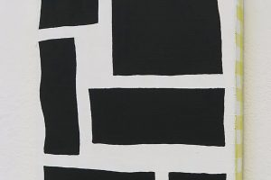 Construction, 2016, acrylique sur tissu, 22 x 16 cm