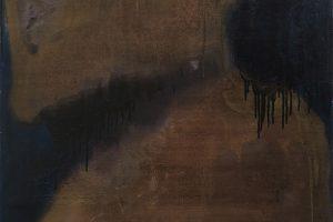 Faith, in strangers, 2014 – laque vinyle et huile sur toile, 130 x 80 cm