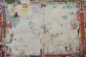 Fissure + Enorme, technique mixte sur papier, 89 x 116, 5 cm