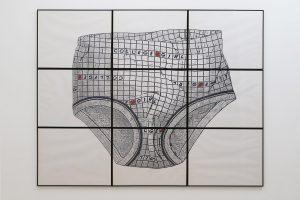 College Girl, 1982, photostats découpés, 152 x 198 cm