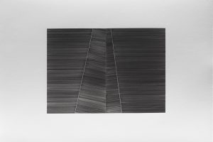 sans titre, 2017, graphite sur papier, diptyque, 56 x 76 cm