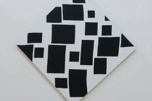 Les pointes, 2017, acrylique sur tissu, 60 x 60 cm (hauteur 84 cm)