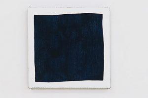Rouge – Bleu – Jaune, 2017, acrylique sur tissu, 25 x 25 cm chacun