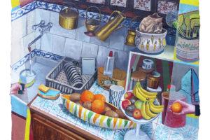 La banane, 2018, huile sur toile, 89 x 116 cm