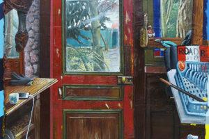 Turtle Road, 2018, huile sur toile, 195 x 130 cm