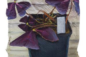 Oxalis triangularis, 2018, huile sur toile, 22 x 14 cm