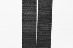 Disjonction, 2019, graphite sur papier marouflé sur bois, 2 x 76 x 56 cm