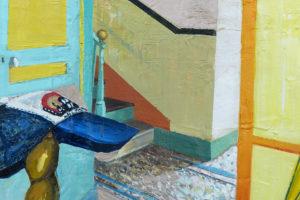 Chapeauté, 2019, huile sur toile, 55 x 46 cm