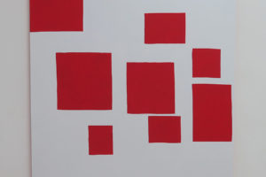 Séquence – 2018, acrylique sur tissu, 180 x 160 cm
