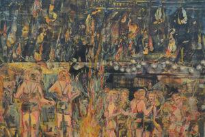 « Fiesta de la fin de l'Inquisition » – 2019, huile sur toile, 130 x 130 cm