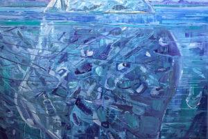 « Iceberg » – 2019, huile sur toile, 180 x 160 cm