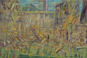 « Jardin à la française in Kabul » – 2019, huile sur toile, 130 x 130 cm