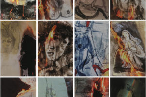 Série « Autodafé (l'œuvre brûlée) », 2018, tirage Epson P20000 sur Murakumo blanc 42g, 30 x 40 cm