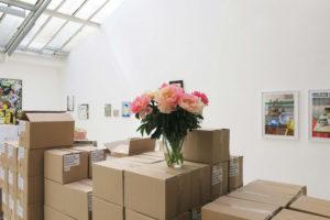 * Mathieu Cherkit (mur) : PG1020 & PG0920, 2020, pastel gras sur papier, 70 x 50 cm