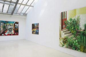 Cycle - Vigie - Mille feuilles, 2020, huile sur toile, 230 x 180 cm