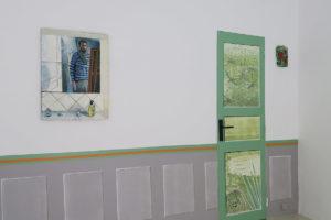 Blanc, 2020, huile sur toile, 73 x 54 cm / Coquelicots, 2020, huile sur toile, 22 x 14 cm