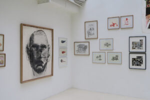 HUANG YONG PING, Sans titre, 1999 - YAN PEI-MING, Portrait robot, 1996 - SUN XUE, sans titre, 2019 - CHRISTELLE TÉA, 217 - MARIELLE PAUL, 2020 - BARTHÉLÉMY TOGUO, 1999 - MARTIN WILNER, 2017