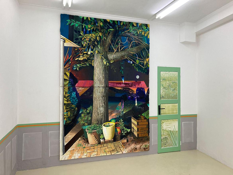 Sortilège, 2020-21, huile sur toile, 290 x 197 cm